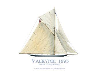 1895 Valykrie - signed print